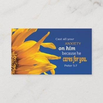 christian inspirational bible verse religious business card