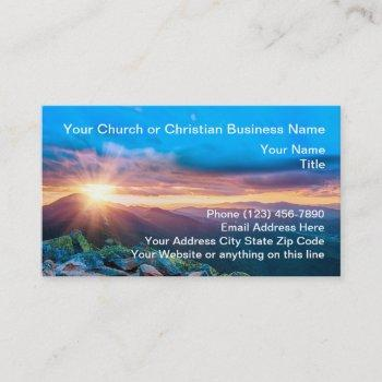 christian scenic church business cards