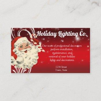 christmas holiday decorating company business card