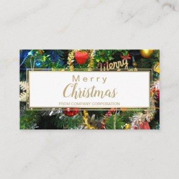 christmas tree ornament business card