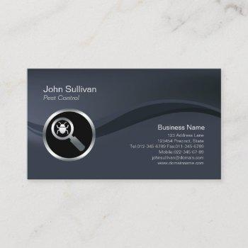 chrome big insect icon pest control business card