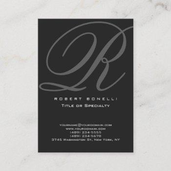 chubby modern calligraphy monogram business card