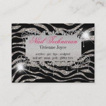 chubby sparkle & shine zebra : business cards