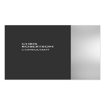 Small Chubby Stylish Gray Vertical Business Card Front View