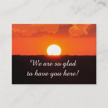 church visitor sunset card