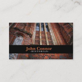 church wall historian business card