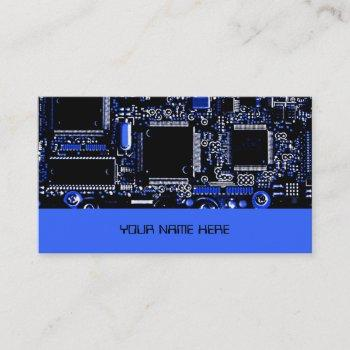circuit blue 2 business card template blue