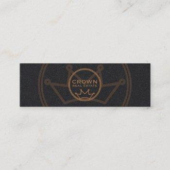 circular crown logo mini business card