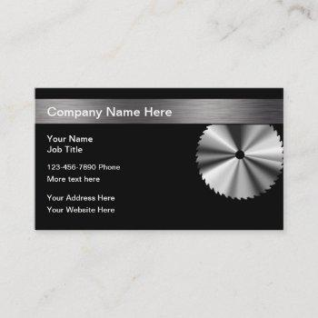 circular saw blade construction business card