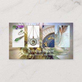 clairvoyant psychic reader photo business card