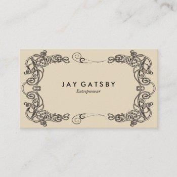 classic art deco/art nouveau business card