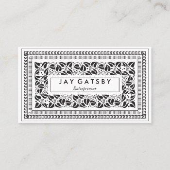 classic art deco/art nouveau business card