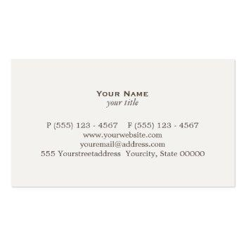 Small Classic Attorney Justice Scale Business Card Back View