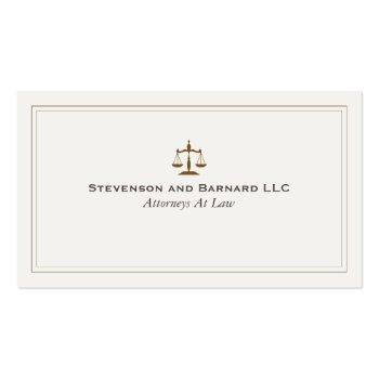Small Classic Attorney Justice Scale Business Card Front View