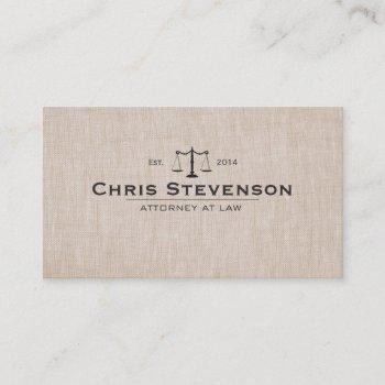 classic attorney justice scale masculine business card
