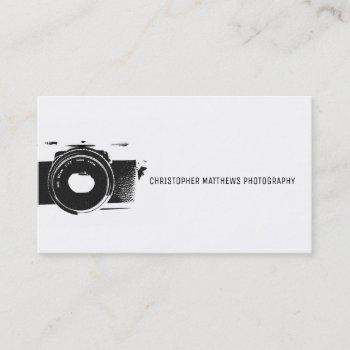 classic camera artistic black white photographer business card