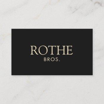 classic elegant professional black business card