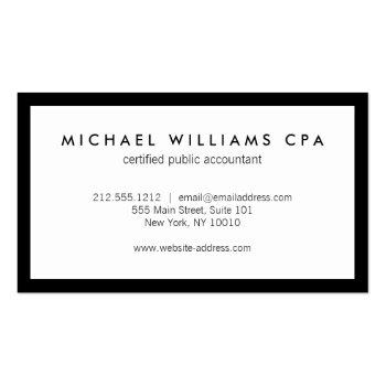 Small Classic Faux Gold Numbers Logo Accountant Business Card Back View