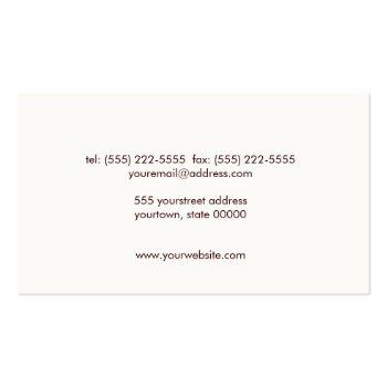 Small Classic Justice Scale Brown Leather Look Attorney Business Card Back View