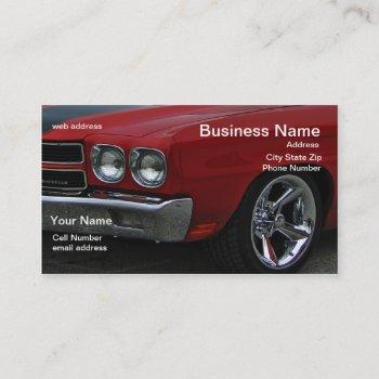 classic muscle business card