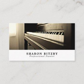 classic piano, musician, music industry business card
