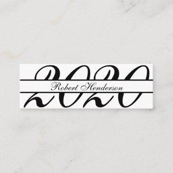 classic white elegant insert card graduation name