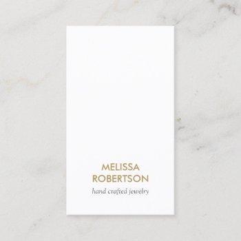 classic white jewelry design business card