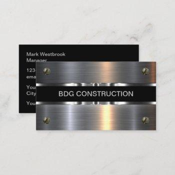 classy and cool construction business cards