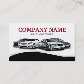 classy auto sales car dealer dealership business card