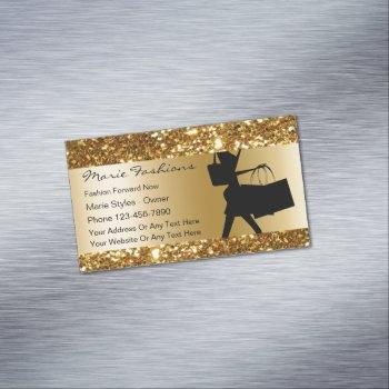 classy beauty fashion business card magnet
