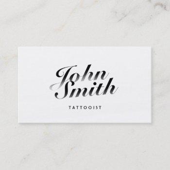 classy calligraphic tattoo art business card