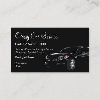 classy car service or uber driver business card