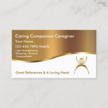 classy caregiver business cards