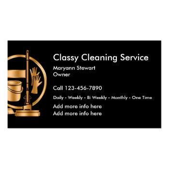 Small Classy Cleaning Services Design Magnetic Business Card Front View