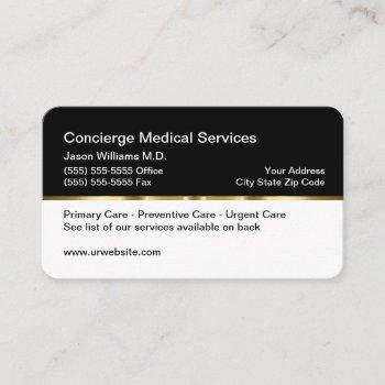 classy concierge medical sevices business card
