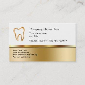 classy dental business cards