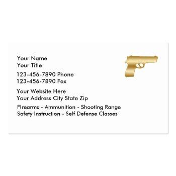Small Classy Firearms Business Cards Back View