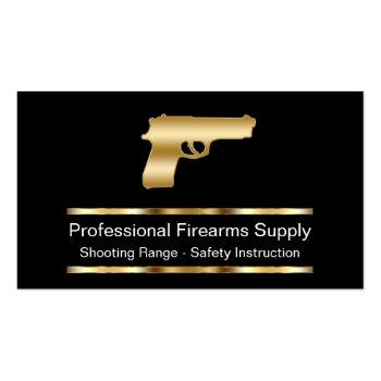 Small Classy Firearms Business Cards Front View