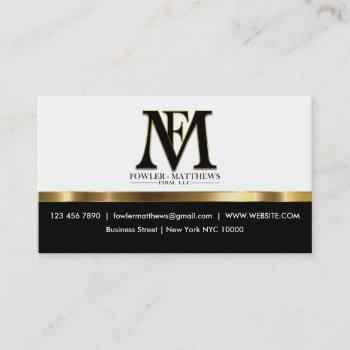 classy fowler attorney business card