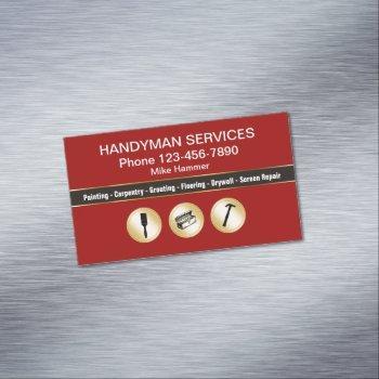 classy handyman business magnets