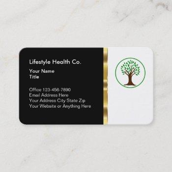 classy healthcare professional business business card