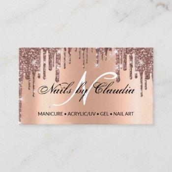 classy holographic glitter elegant script  busines business card