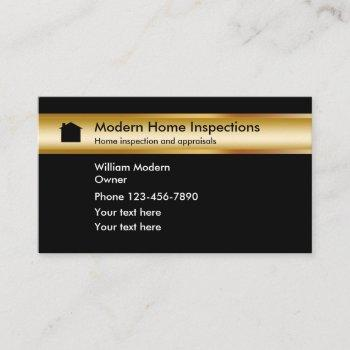 classy home inspection appraisals business card