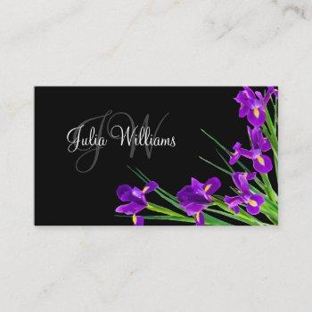 classy ladies monogram style business card