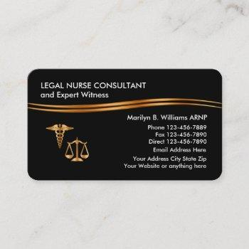 classy legal nurse practitioner business card