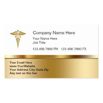 Small Classy Medical Business Cards Front View