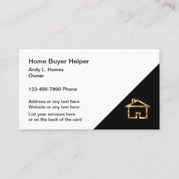 classy modern real estate business card