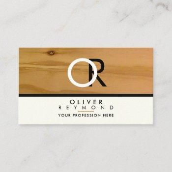 classy, modern & stylish wood texture professional business card
