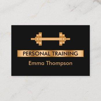 classy personal trainer fitness business card