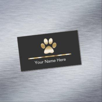 classy pet service business card magnet